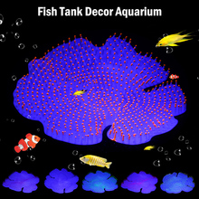 Aquarium Decoration Silicone Glowing Artificial CoralFish tank ornament aquarium fish decoration D40