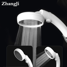 ZhangJi Large Panel 360° Rotating Shower Head Stop Button High Pressure Detachable Water Saving