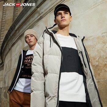 JackJones hommes hiver à capuche canard doudoune mâle décontracté mode manteau 2019 flambant neuf homme 218312531