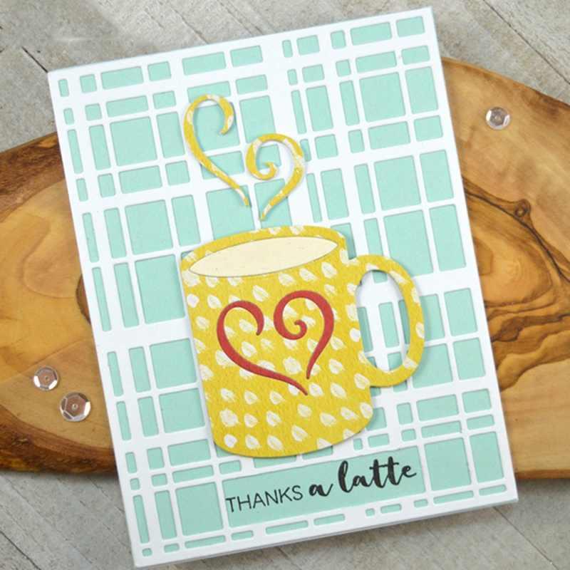 Amor corazón café taza de té álbum de boda tarjetas de navidad artesanía troqueles bricolaje grabado Metal corte troqueles plantillas para Scrapbooking