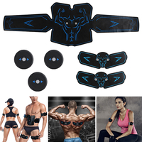 8pcs/set Muscle Stimulator Exercise Sticker Electric Fitness Sports Gym Equipment Abdominal Belt Rechargeable Belly Body Trainer
