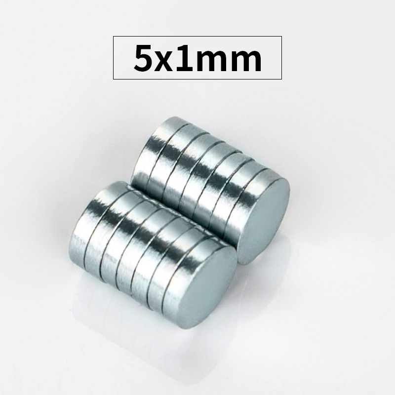 RKZCT 100pcs/Lot 5 * 1 Mm DIY Neodymium Magnet Classic Practical Super Strong Magnets Powerful Small Round Rare Earth Magnetic