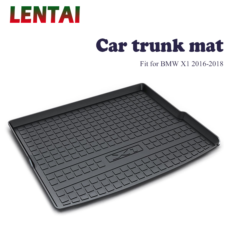 Car rear trunk Cargo mat For <font><b>BMW</b></font> <font><b>X1</b></font> F48 2019 2020 2016 <font><b>2017</b></font> 2018 Car Boot Liner Tray Anti Slip and Waterproof Mats <font><b>Accessories</b></font> image
