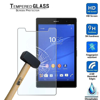 9H Anti-fingerprint Curved Edge Tempered Glass Film for Sony Xperia Z3 Tablet Compact 8.0 Tablet Protective Film image