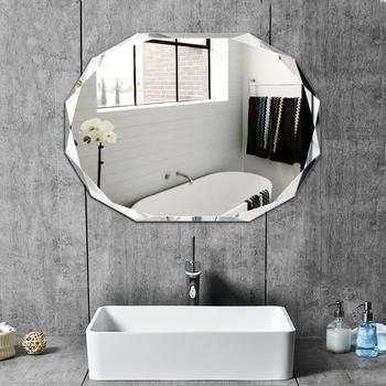 Proste bezramowe kąpieli lustra osobowość-bezpłatny do montażu na ścianie Lager toaleta wc do makijażu kosmetyki lustra lustro mx90916 tanie i dobre opinie 2-face Nieregularne Other Europa SILVER Nie posiada Inne Bezramowe lustra