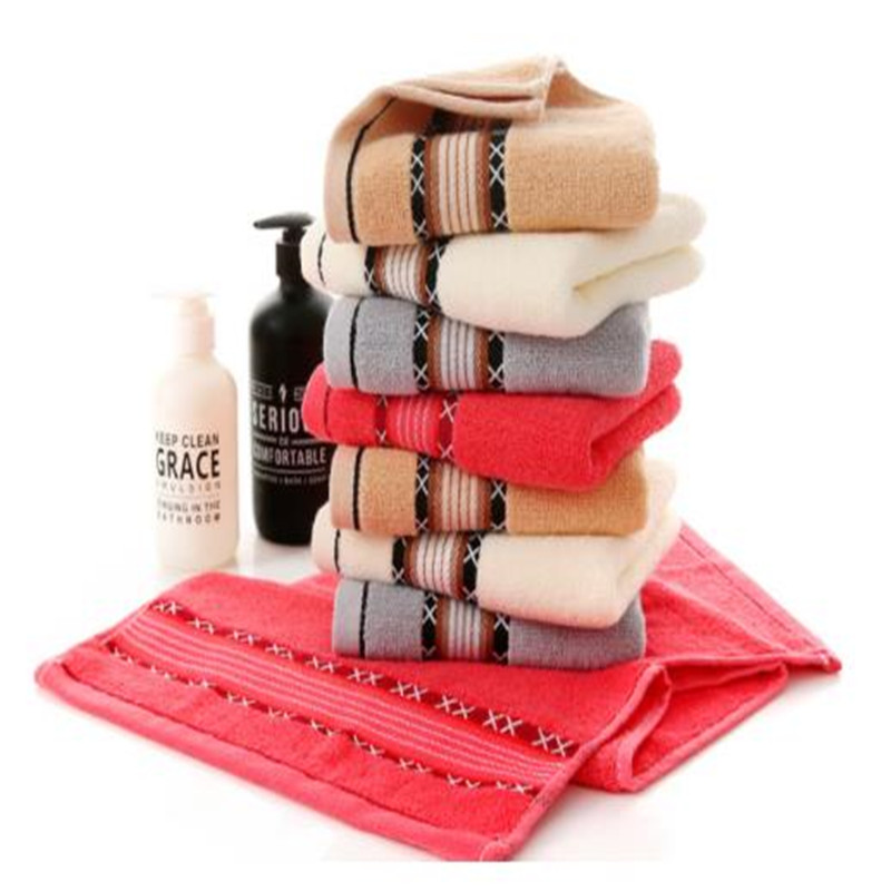 Pure Cotton Jacquard Towel Can Be Customized Logo Thickening Adult Wash A Face To Face Towel  0108B