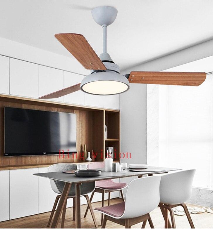 ventiladores de teto com luzes de madeira 03