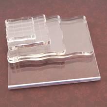 Bloque acrílico de alta transparencia para manualidades, sello transparente para álbum de recortes, foto clara, decorativo