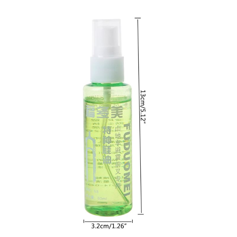 60ml Spray Bicycle Lubricant MTB Mountain Bike Front Fork Oil Cycling Damping Special Oil PXPF