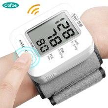 cofoe English Voice Wrist Blood Pressure monitor Automatic Digital Cuff Wrist Sphygmomanometer Portable LCD Digital Household