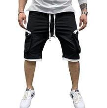 Nouveau short de sport d'été pour hommes avec plusieurs poches sport décontracté hip hop à lacets pantalon cargo pour cinq minutes