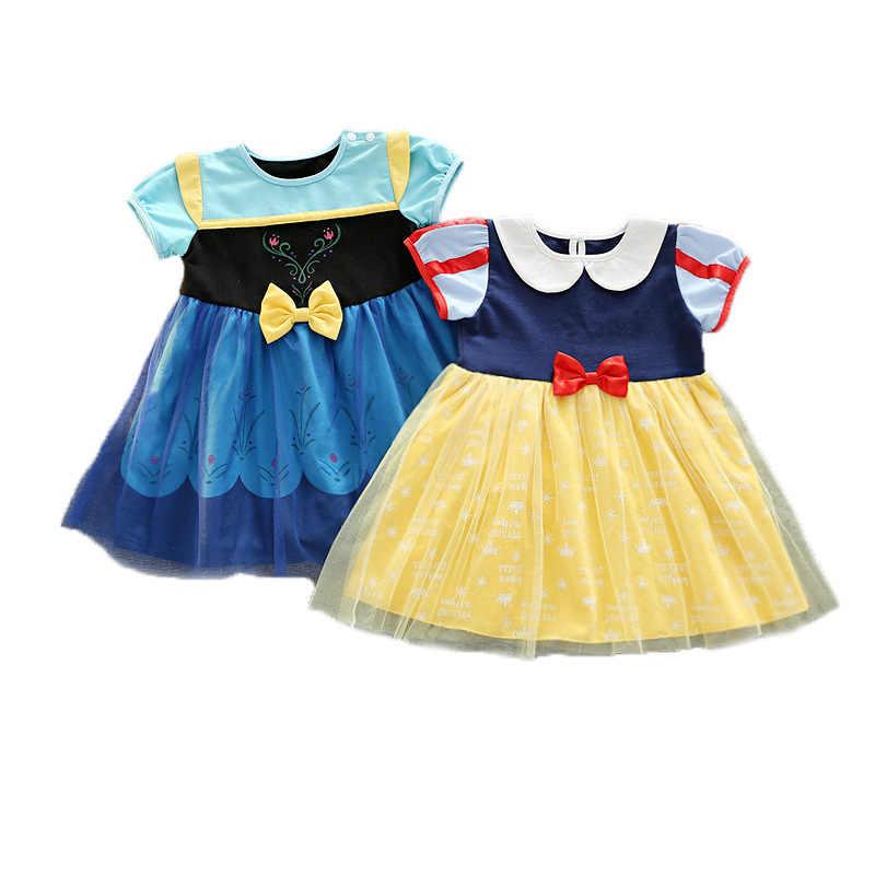 ديزني المجمدة الاطفال فساتين للبنات آنا زي الأميرة اللباس هالوين عيد الميلاد حزب تأثيري ملابس الأطفال الدانتيل