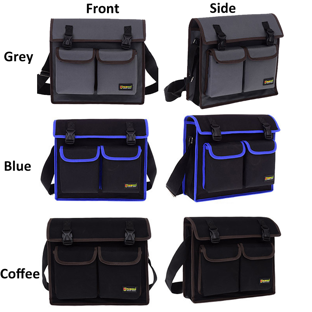 Multifunctional Tool Single Shoulder Work Bag Hardware Electrician Toolkit Organizer Waterproof Wear-resistant Oxford Cloth Belt