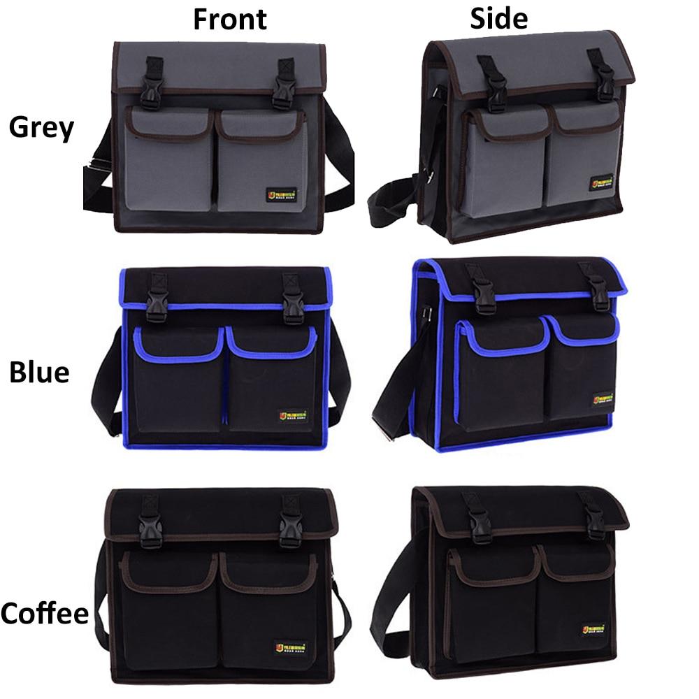 Multifunctional Tool Single Shoulder Work Bag Hardware Electrician Toolkit Organizer Waterproof Wear-resistant Oxford Cloth Belt
