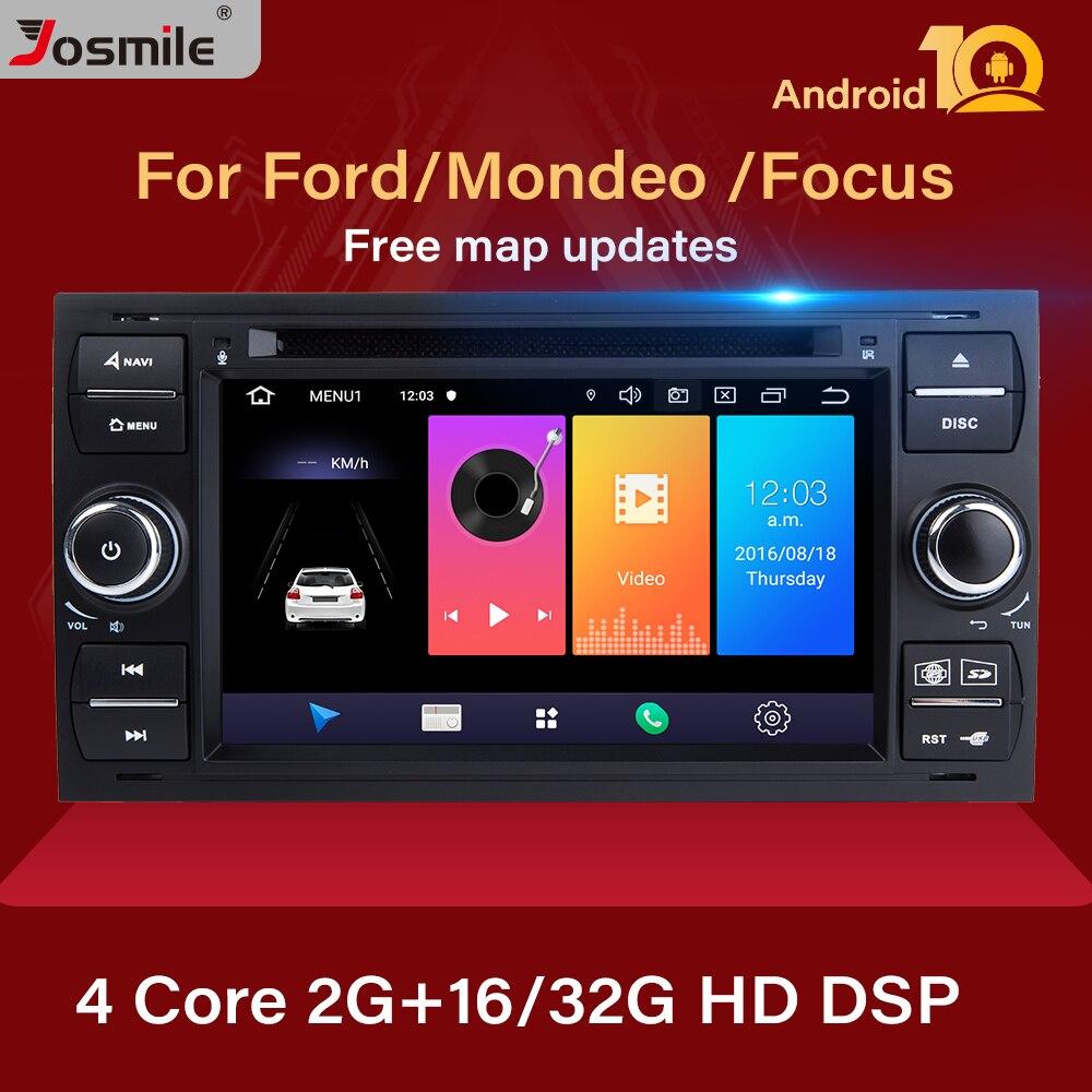 2 din Android 10 автомобильное радио для Ford Focus 2 3 mk2 Mondeo 4 Kuga Fiesta Transit Connect S CMAX Мультимедиа GPS Navigationhead unit|Мультимедиаплеер для авто|   | АлиЭкспресс