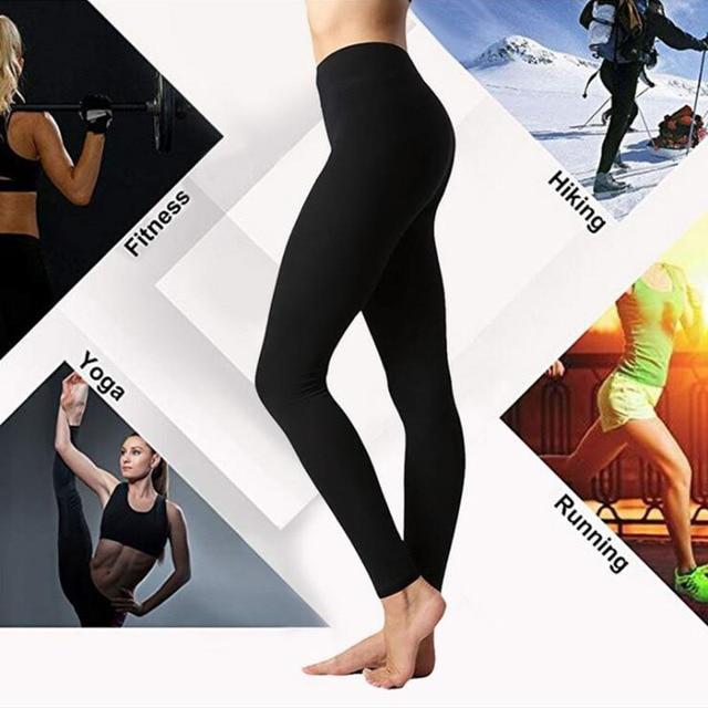 Autumn And Winter Warm Pants Hot Selling High Waist Legging Plain Salad Women Pants Women Winter Leggings 3