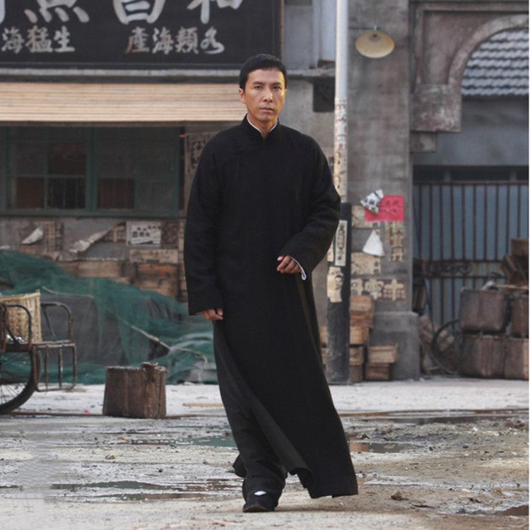 Man Chinese Traditional Mandarin Gowns Wing-chun Kung Fu Uniforms Solid Stage Crosstalk Performance Costume Chinese Tunic Suit