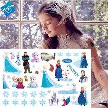Hasbro Princess Elsa Frozen Children Cartoon Temporary Tattoo Sticker For Girl Toy Birthday Party Funny Gril Gift
