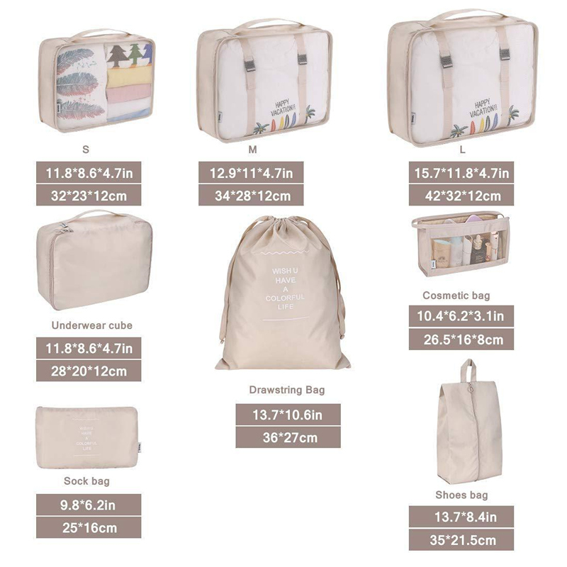 New-8Pcs-set-Travel-Bag-Set-For-Packing-Cube-Shoes-Clothes-Toiletry-Organizer-Pouch-Divider-Containe (2)