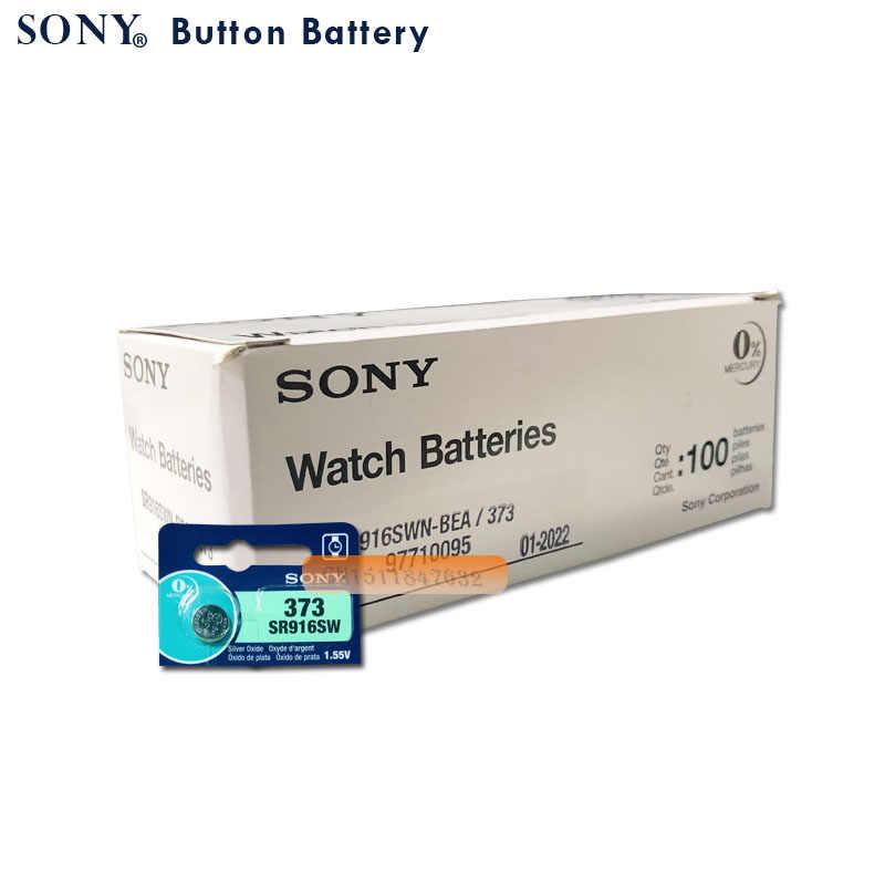 2 sztuk Sony 100% oryginalny 373 SR916SW 916 SR916 bateria zegarka SR916SW 373 przycisk ogniwo monety wykonane w japonii