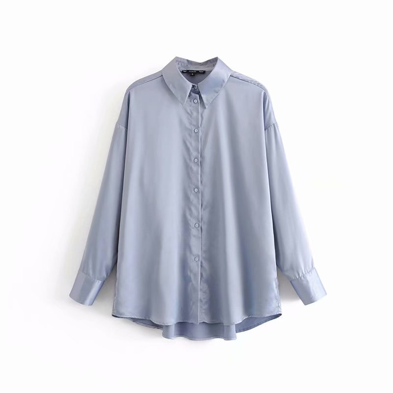 Women Elegant Turn Down Collar Solid Color Casual Blouses Chic Shirts Office Lady Long Sleeve Leisure Blusas Chemise Tops LS4109