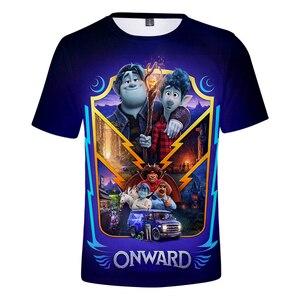 Футболка Pixar Onward для мужчин и женщин, летняя футболка, модные Мультяшные футболки с короткими рукавами и 3D принтом, футболки с рисунком аниме для мальчиков и девочек, 2020