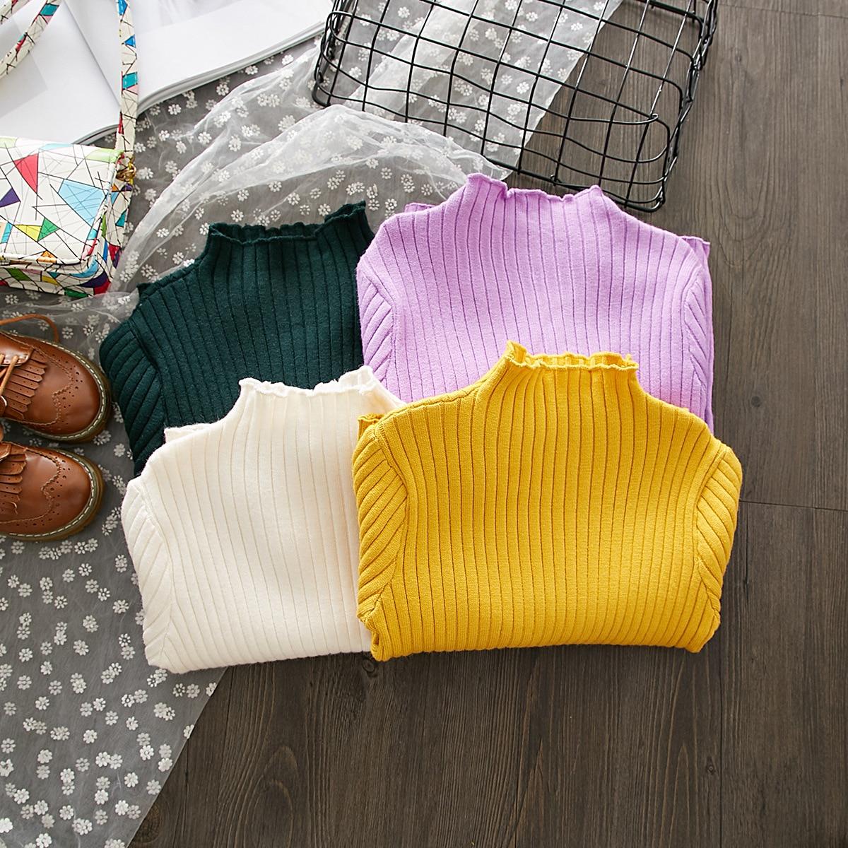 Autumn And Winter Korean-style Summer Girls Fashion Goods Cute Knit Low Waist Jersey CHILDREN'S Sweater