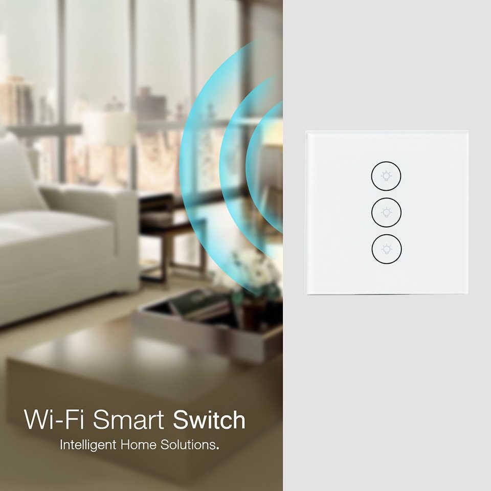 Esooli Wifi Thông Minh Tường Ứng Tuya Cuộc Sống Thông Minh Kính Bảng Điều Khiển ỨNG DỤNG Di Động Điều Khiển từ xa làm việc với Amazon Alexa Google nhà