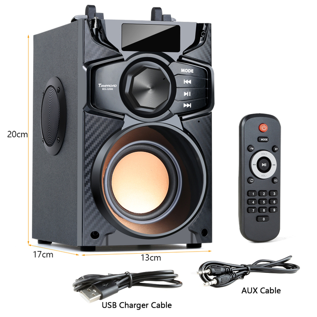 Big Power Bluetooth Speaker Wireless Stereo Subwoofer Heavy Bass 8
