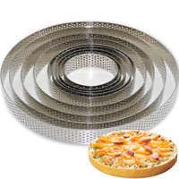 Rond en acier inoxydable gâteau faisant des moules Mousse gâteau tarte cercle moule Pizza Dessert bricolage décor moule tarte anneau cuisine cuisson outil
