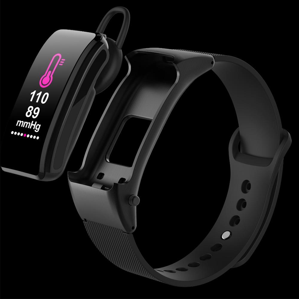 New B31 Smart Bracelet Bluetooth Telephone Headset 2 in 1 Color Screen Blood Pressure Heart Rate Monitoring Motor VS mi band 3