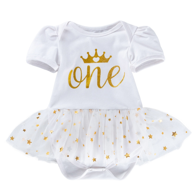 Newborn Baby Girls Summer Bodysuit Clothes First Birthday Kids Girls Outfits Costume Infantil Girls Clothing Lovely Cute Clothes
