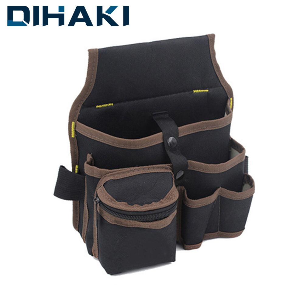 Instrument Case Tool Bag Belt For Electrician Carpenter Waist Pocket Pouch High Capacity Hand Tool Hardware Storage Oxford Cloth