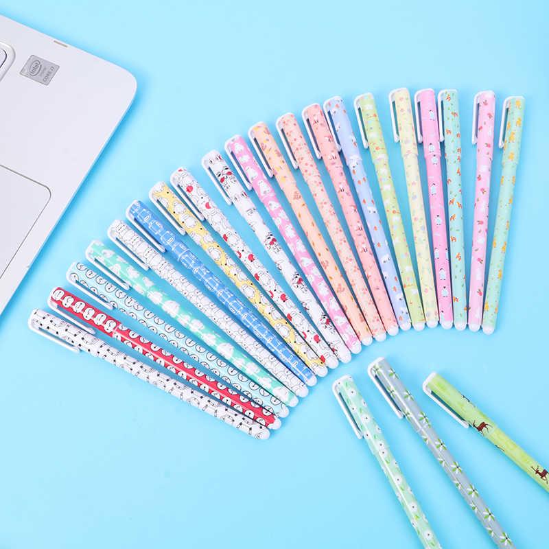 10 adet/takım renk kalemler kawai yıldızlı çiçek yıldız tatlı Flora renkli jel Pengel kalem kawaii 0.5m kalemler okul kawaii stylo канцелярия ручка