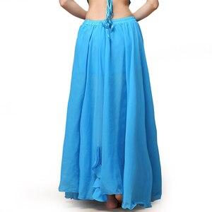 Image 5 - Falda larga de satén para mujer, falda Sexy Oriental para danza del vientre, profesional, 2019