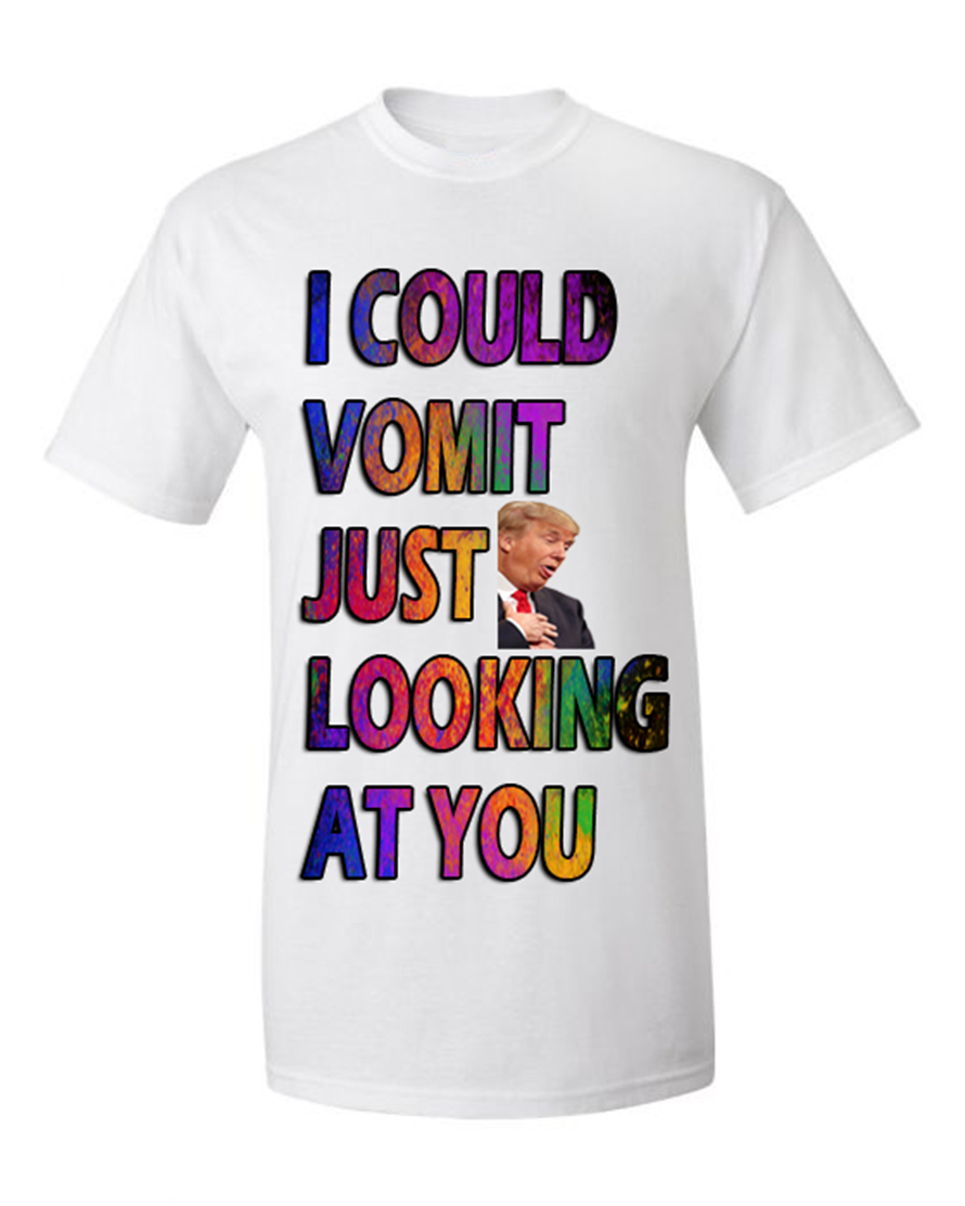 Trump Meme, Vomit Looking Tees Graphic Funny Generic Novelty Unisex T-Shirt Birthday Gift Tee Shirt image