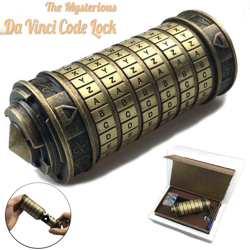 Leonardo Da Vinci Code Toys Metal Cryptex Locks Wedding Gifts Valentine S Day Gift Letter Password Escape Chamber Props Super Promo 201c56 Firstgenmoney
