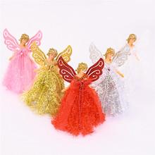 High Quality Navidad 2020 Christmas Angel Girl Doll Xmas Tree Ornament Noel Decoration for Home Table New Year 2021 Kids Gifts