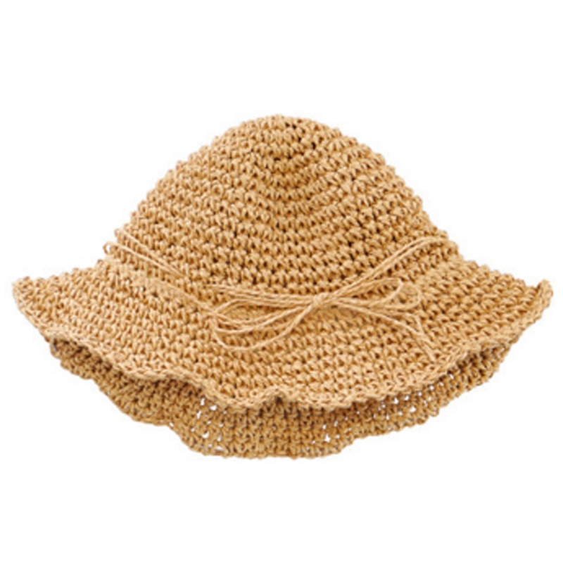 Handmade Parent-Child Straw Hat Children'S Travel Seaside Sun Protection Sun Hat Butterfly Fisherman Hat Baby Sunhat Summer