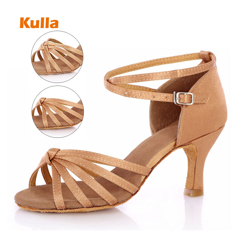 Adult Latin dance shoes women/'s high-heeled genuine leather soft outsole shoes
