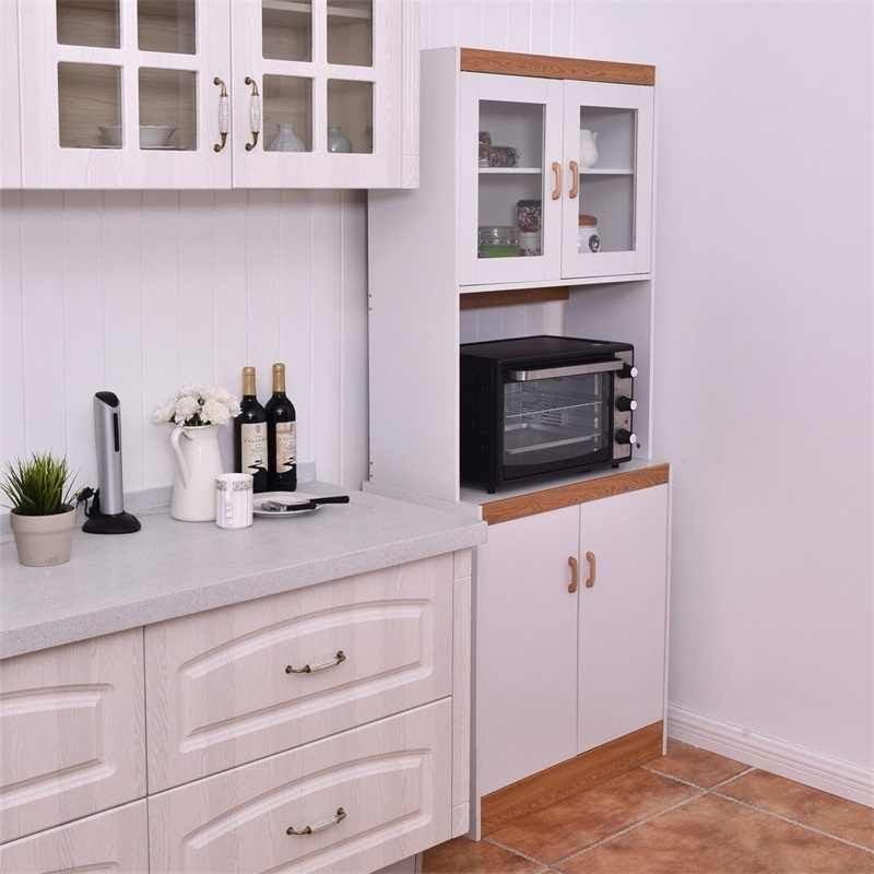 tall shelves microwave cart stand