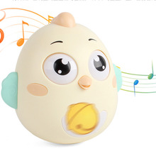 0-3Years Baby Toys Cute Cartoon Chicken Tumbler Nod Doll Sliding Bell Rattle Learning Education Toys Gifts Baby Bell Baby Toys