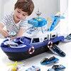 Kinder Spielzeug Simulation Track Trägheit Boot Spielzeug Gießt Druck Fahrzeuge Musik Geschichte Licht Spielzeug Schiff Modell Spielzeug Auto Parkplatz Jungen Spielzeug