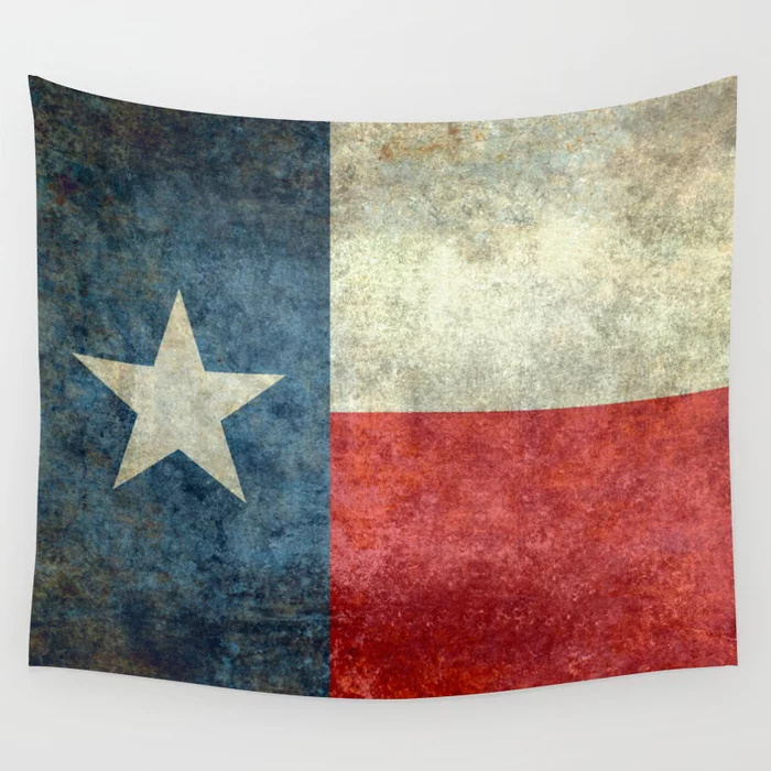 Texas State Flag Tapestry Retro Style Wall Hanging Tapestries Dorm Wall Art Home Decor Traveling Camping Beach Towel Yoga Mat image