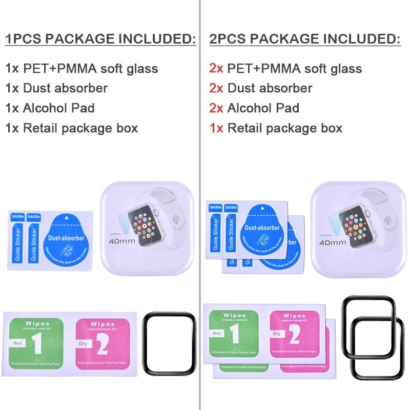 Купить с кэшбэком PET + PMMA Waterproof Screen Protector for Apple Watch 5 4 3 38MM 40MM 44MM 42MM Not Tempered Soft Glass Film