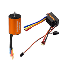 OCDAY 3650 3900KV 4 poles Sensorless Brushless Motor with 60A Electronic Speed Controller Combo Set for 1/10 RC Car and Truck