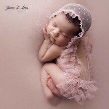Jane Z Ann Neugeborenen foto requisiten kleidung hut studio baby mädchen fotografie outfits studio schießen zubehör