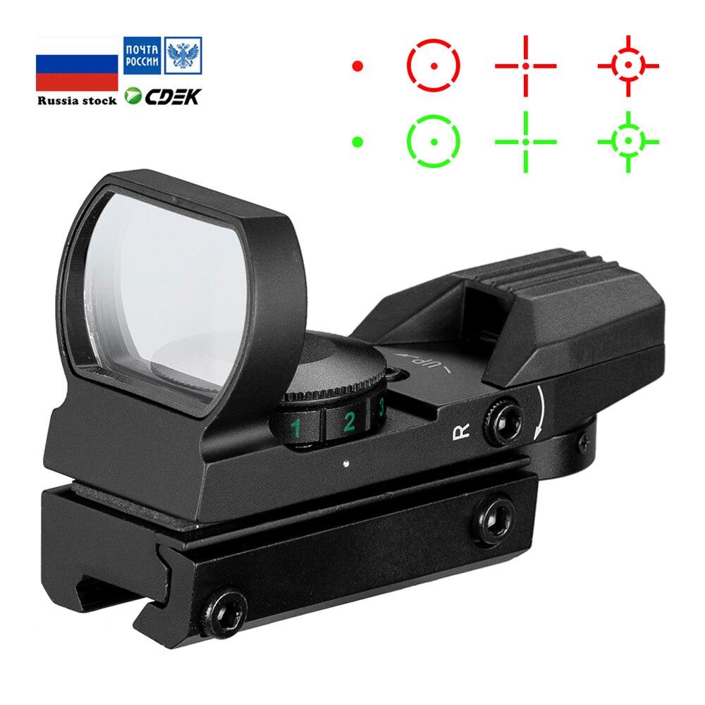 Sıcak 20mm raylı tüfek avcılık optik holografik kırmızı nokta görüşü refleks 4 Reticle taktik kapsam kolimatör Sight