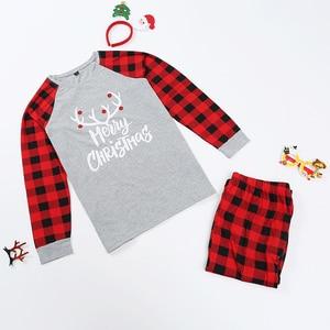 Image 4 - Conjunto de pijamas familiares de Navidad, ropa de Navidad, traje para padres e hijos, ropa de dormir de casa, trajes familiares a juego para bebé, Chico, papá, mamá