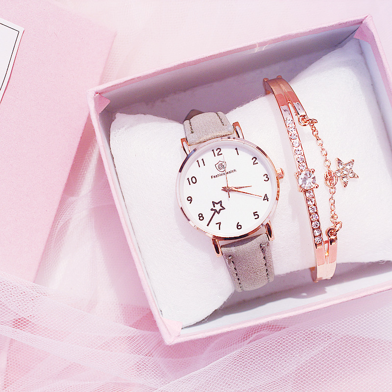 Ladies fashion casual elegant leather belt analog round watch quartz female clock reloj mujer